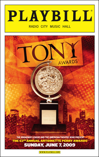 Tony 2009 playbill